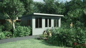 3.0 x 4.2m Thornham Summerhouse in Exterior Sage