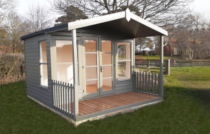 3.0 x 3.6m Morston Summerhouse in Exterior Ash Paint