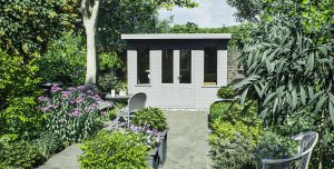 2.4 x 3.0m Thornham Summerhouse Pebble