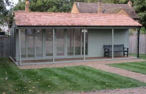 4.2 x 7.8m Pavilion Garden Room in Exterior Lizard Paint
