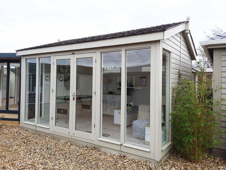 Brighton's 3.0 x 4.2m Burnham Studio in Farrow & Ball Old White
