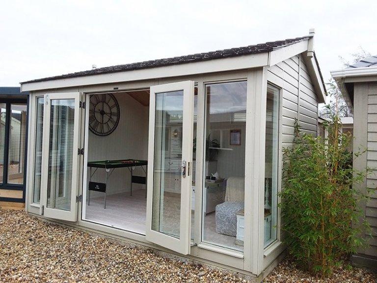 3.0 x 4.2m Burnham Studio in Farrow & Ball Old White at Brighton