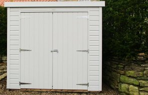 1.5 x 2.1m Classic Shed in Smoke with a Pent Roof Design