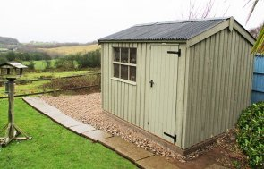 2.4 x 3.0m Felbrigg National Trust Shed with Apex Roof and Georgian Window