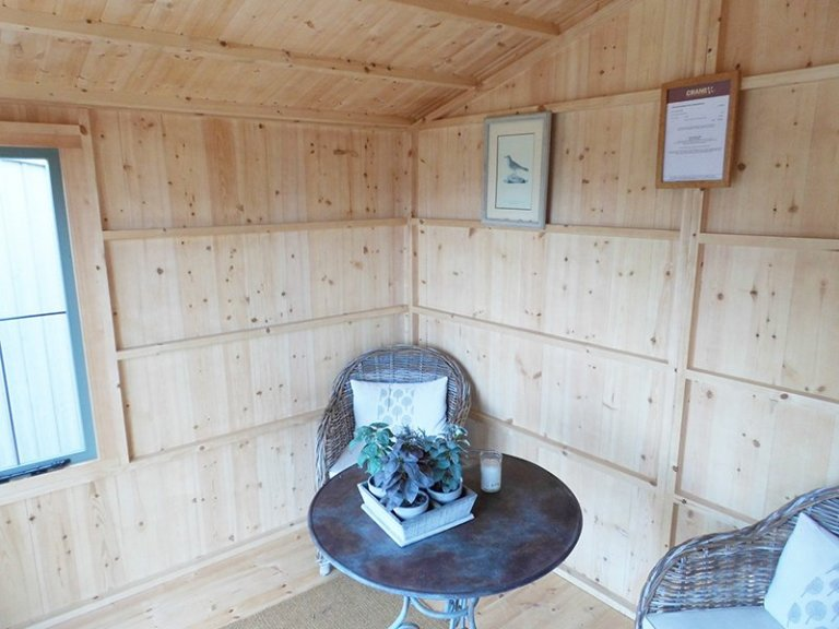 Inside Burford's 3.0 x 2.4m Ickworth National Trust Summerhouse in Terrace Green