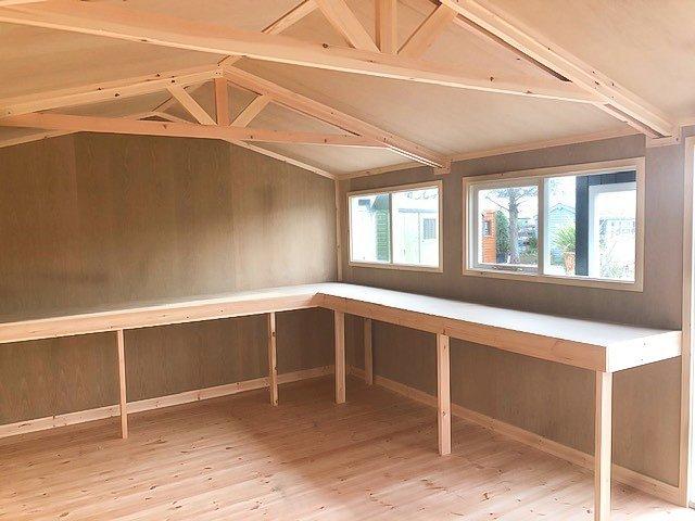 Nottingham's 3.6 x 5.4m Superior Shed Interior