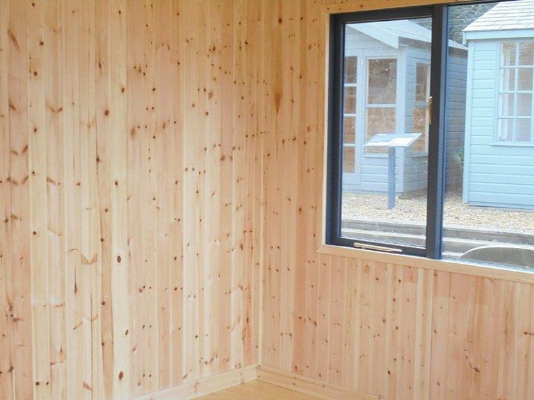 Inside Newbury's 3.0 x 3.6m Langham Studio in Exterior Slate Paint