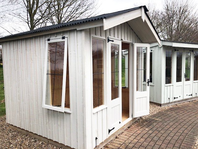 2.4 x 2.4m Ickworth National Trust Summerhouse painted in Earls Grey