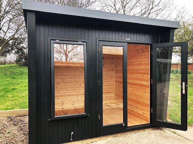 2.4 x 3.0m Classic Office at Nottingham painted in Classic Coal
