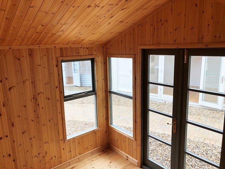 Inside Cranleigh's 3.0 x 2.4m Blakeney Summerhouse