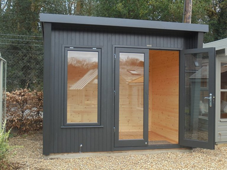2.4 x 3.0m Classic Office at Newbury Painted in Coal