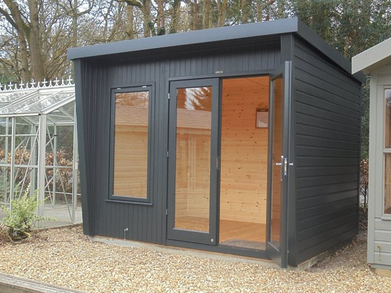 2.4 x 3.0m Classic Office Painted in Coal at Newbury