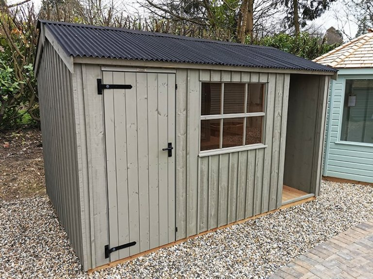 2.4 x 3.6m Blickling National Trust Shed Painted in Wades Lantern at Sevenoaks