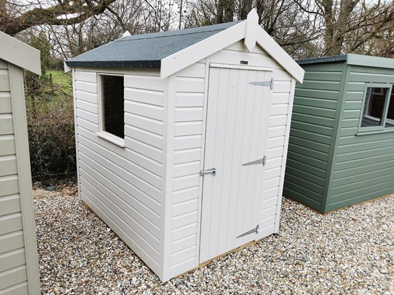 Sevenoaks' 1.5 x 2.1m Classic Shed painted in Classic Cotton