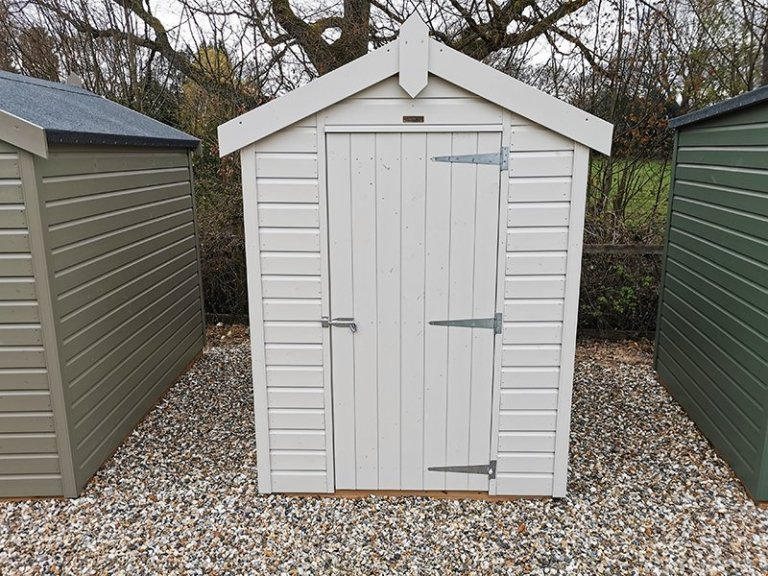 1.5 x 2.1m Classic Shed at Sevenoaks painted in Classic Cotton