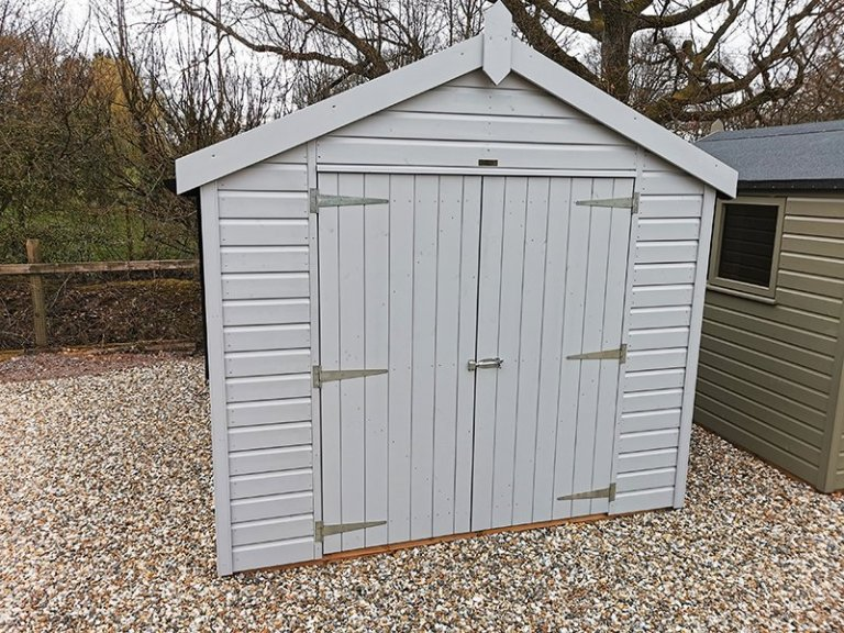 Sevenoaks' 2.4 x 3.0m Classic Shed Painted in Classic Smoke