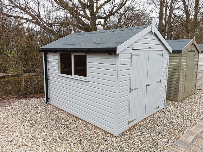 2.4 x 3.0m Classic Shed at Sevenoaks Painted in Classic Smoke