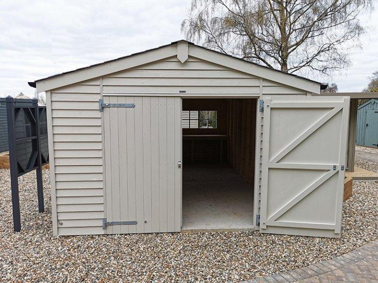 Sevenoaks' 3.6 x 6.0m Garage in Exterior Sandstone Paint