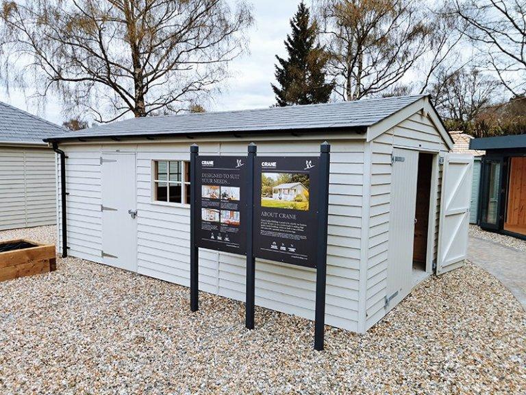 3.6 x 6.0m Garage at Sevenoaks in Exterior Sandstone Paint