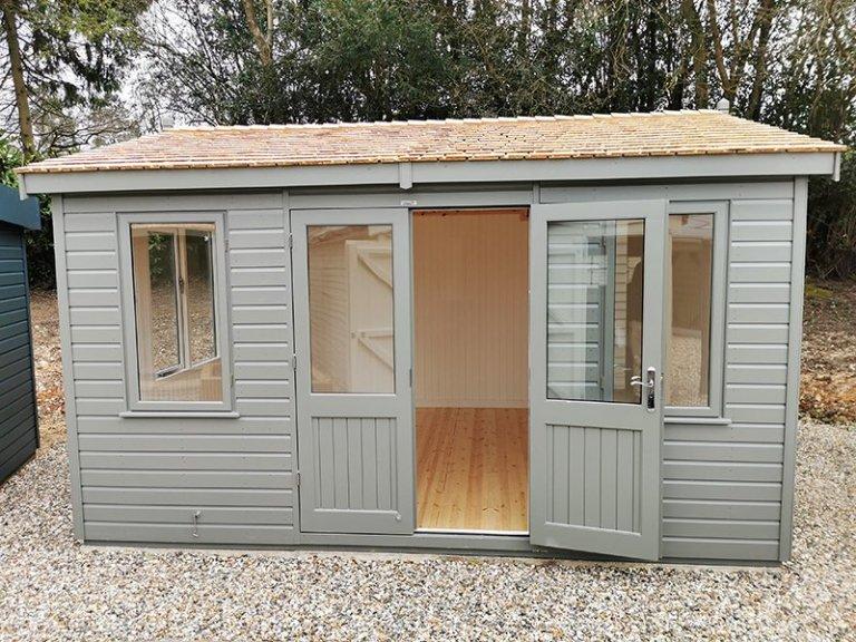 3.6 x 4.2m Langham Studio at Sevenoaks in Exterior Ash Paint