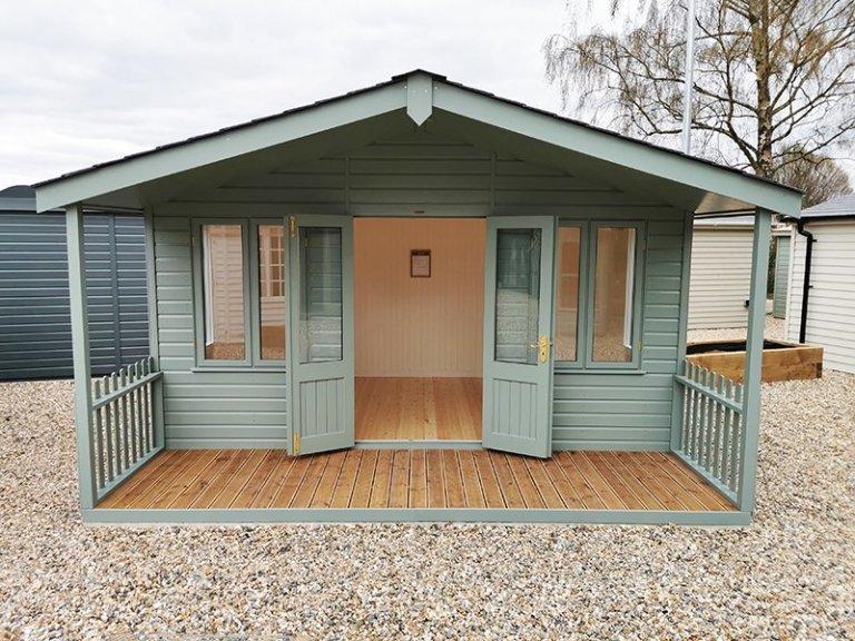 4.2 x 4.2m Morston Summerhouse in Exterior Sage Paint