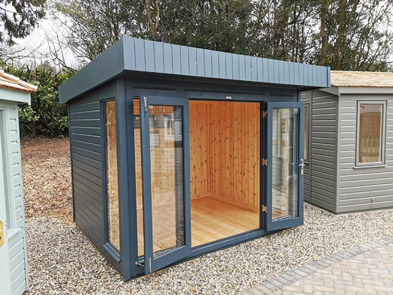 2.4 x 3.0m Salthouse Studio at Sevenoaks in Exterior Slate Paint