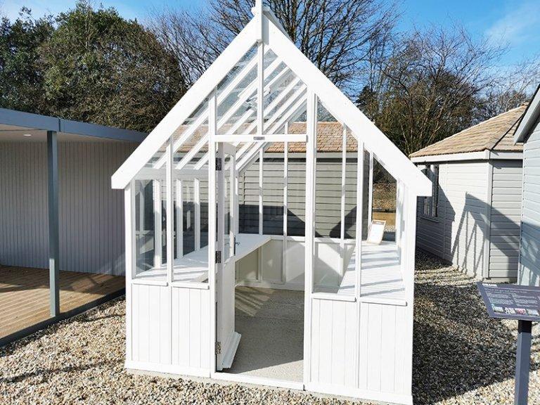 Sevenoaks' 2.4 x 3.0m Greenhouse in Exterior Ivory Paint