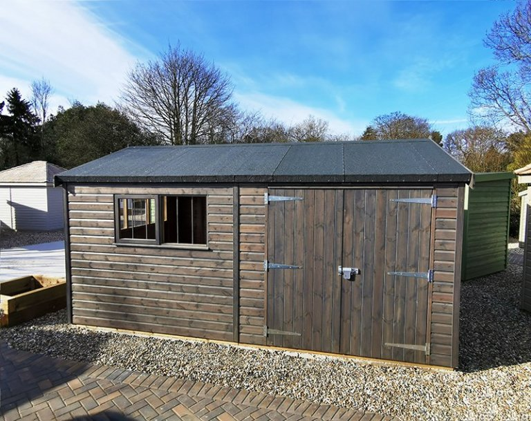 Sevenoaks' 3.0 x 4.8m Superior Shed in Sikkens Grey