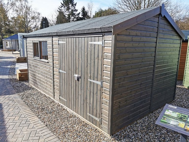 3.0 x 4.8m Superior Shed at Sevenoaks in Sikkens Grey