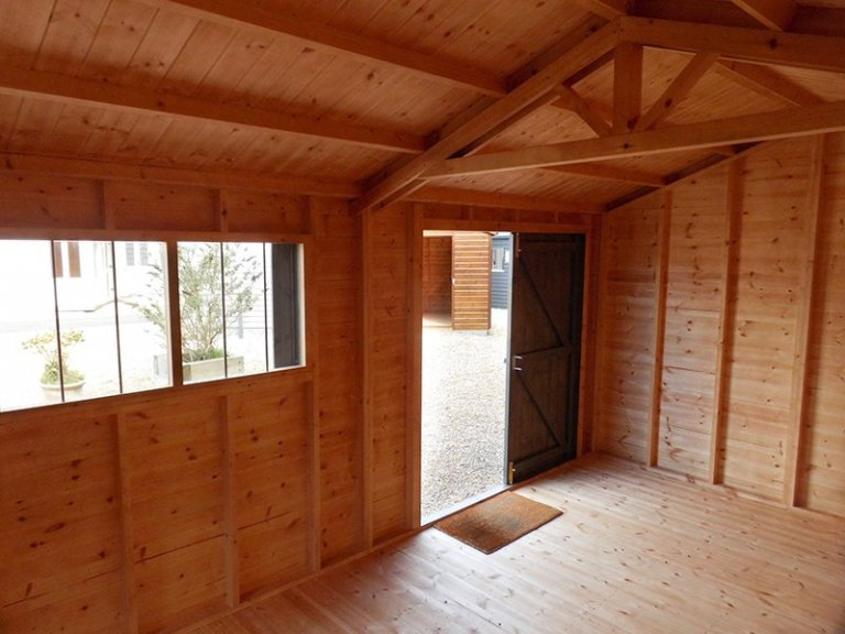 Interior of Burford's 3.0 x 4.8m Superior Shed with Apex Roof