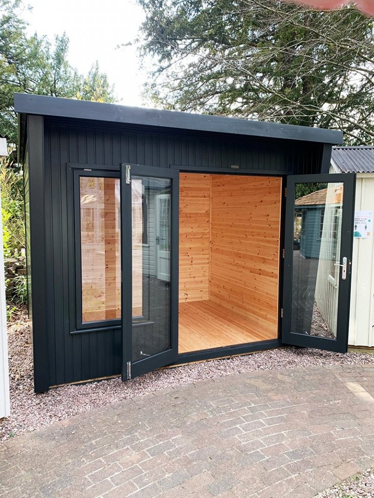 Trentham's 2.4 x 3.0m Classic Office Painted in Classic Coal