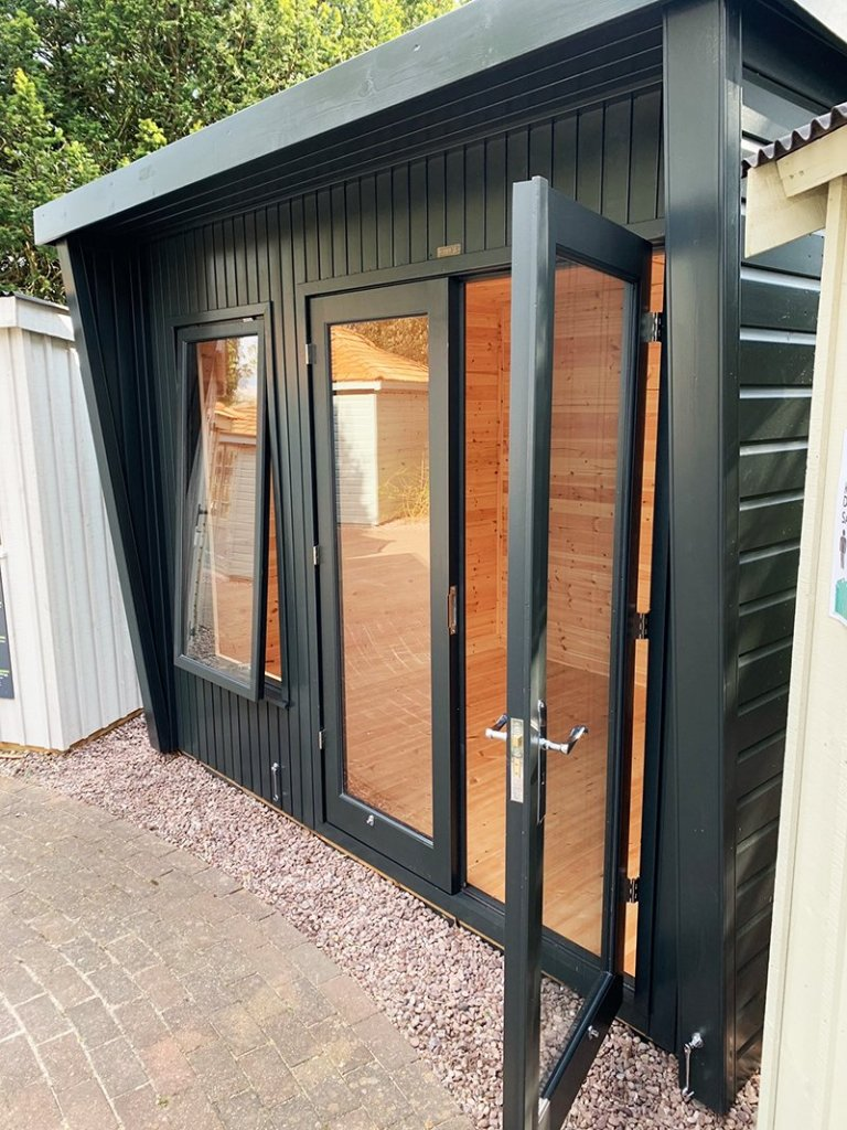 2.4 x 3.0m Classic Office at Trentham Painted in Classic Coal