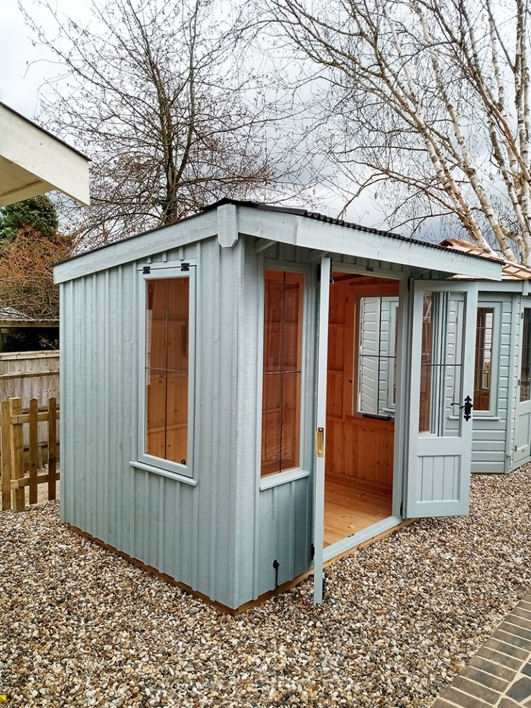 1.8 x 2.4m Flatford National Trust Summerhouse in Painters Grey at Sevenoaks
