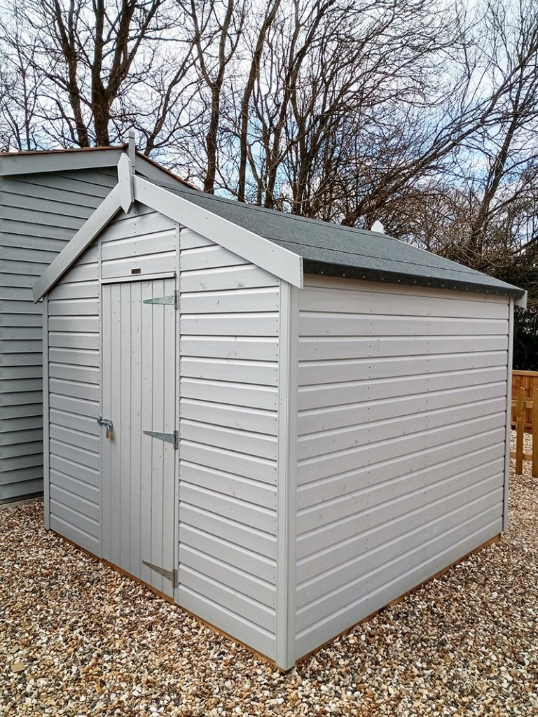 Sevenoaks' 2.4 x 2.4m Classic Shed painted in Classic Smoke