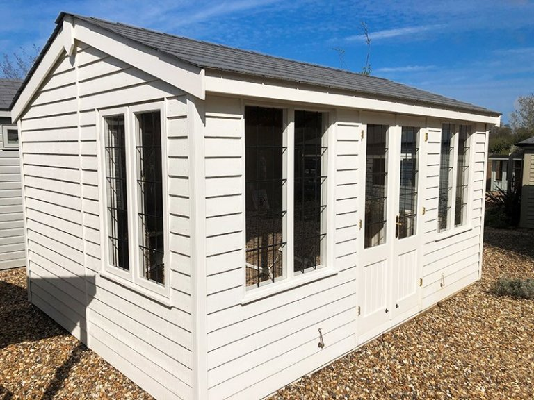 Cranleigh's 3.0 x 4.2m Holkham Summerhouse in Exterior Cream Paint