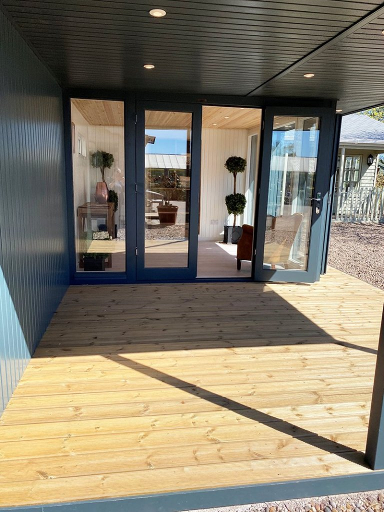 3.6 x 6.0m Holt Studio at Nottingham in Exterior Slate Paint