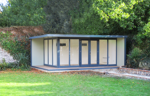4.0 x 5.8m Holt Studio in Slate & Lizard with stylish pent roof design