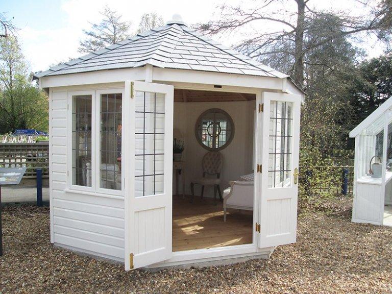Sunningdale's 3.6 x 3.6m Wiveton Summerhouse in Exterior Cream Paint