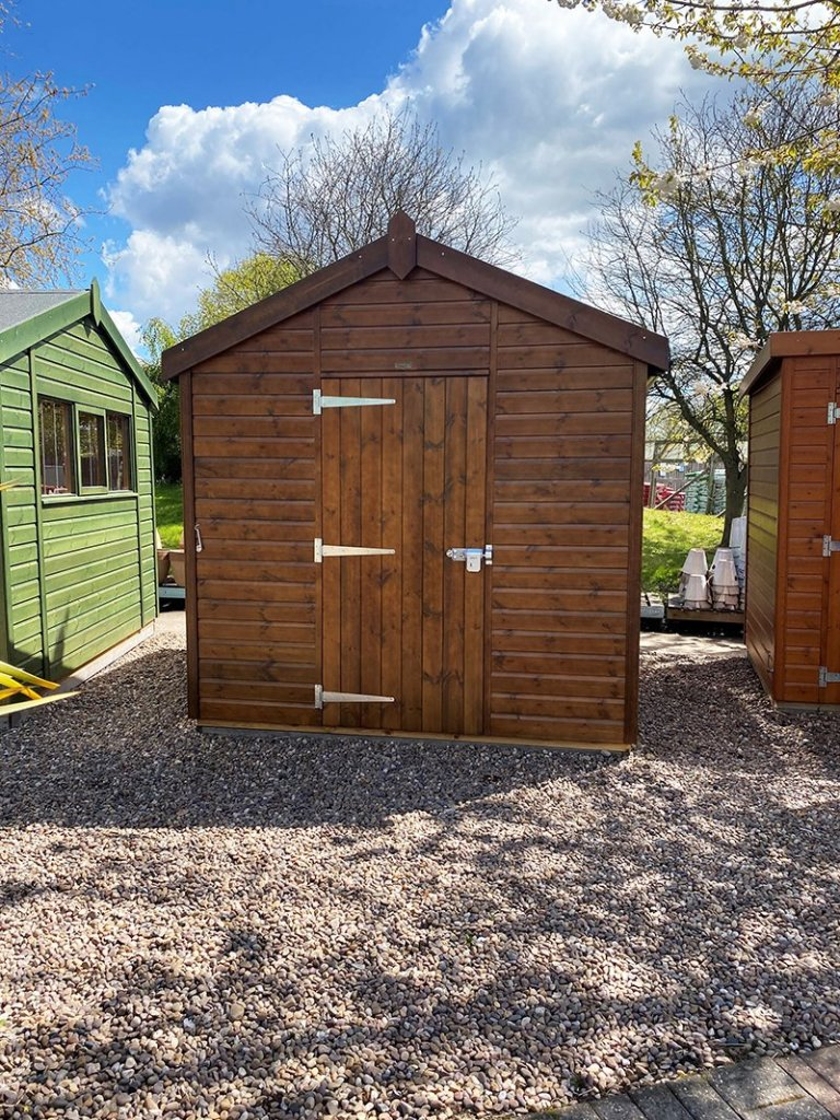 Nottingham's 2.4 x 3.0m Superior Shed Treated with a Walnut Sikkens wood stain