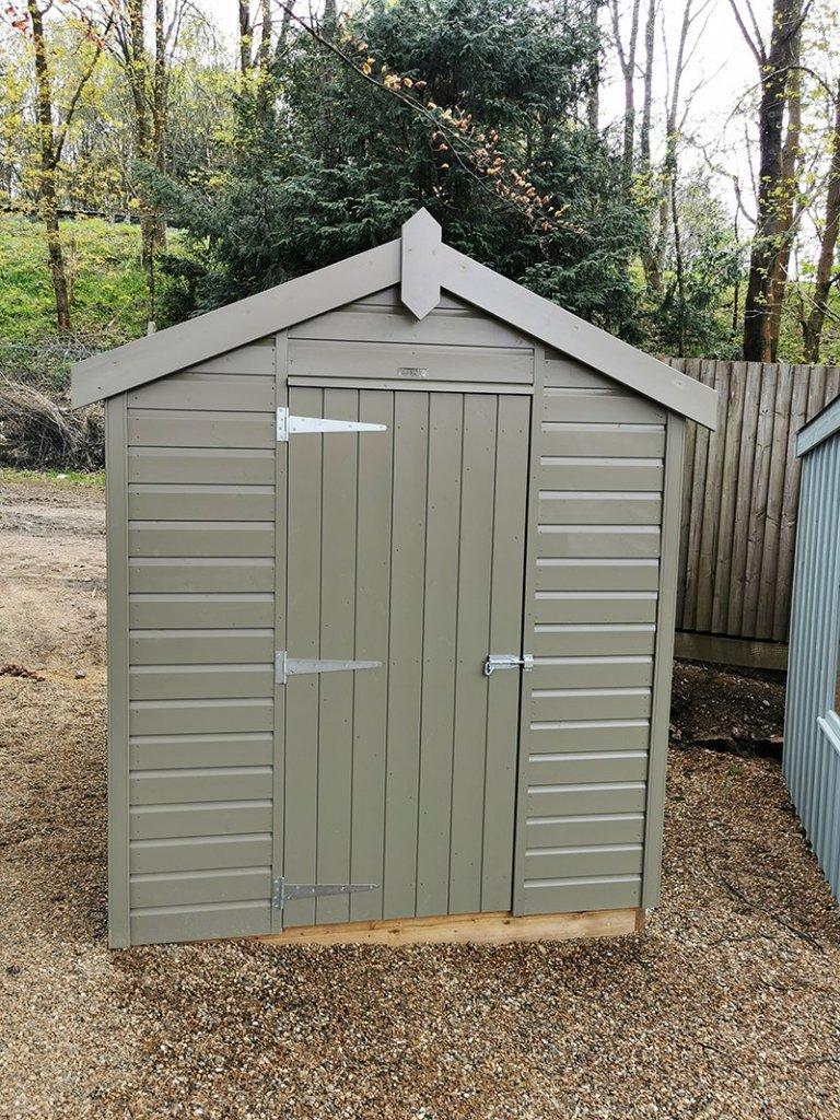 Tunbridge Wells' 1.8 x 2.4m Classic Shed painted in Stone