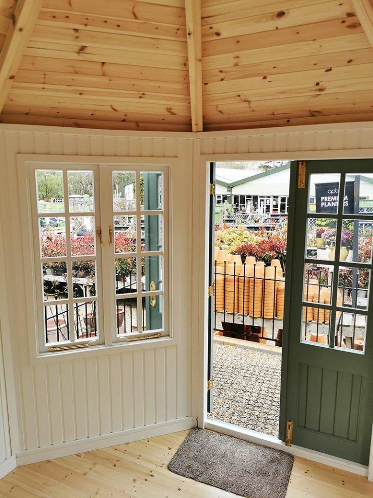 3.0 x 3.0m Wiveton Summerhouse in Exterior Sage Paint