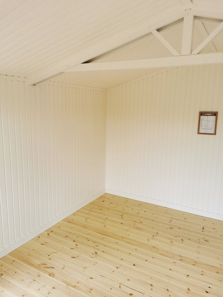 3.6 x 4.8m Morston Summerhouse Painted in Farrow & Ball Mouse's Back