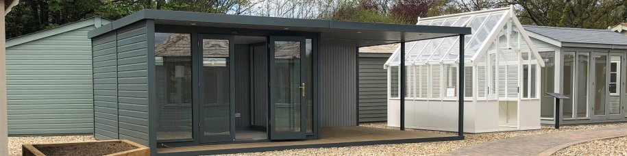 Holt Studio with large veranda at Sevenoaks Show centre, Kent