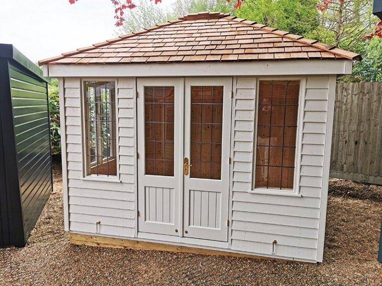 Tunbridge Wells' 2.4 x 3.0m Cley Summerhouse in Exterior Cream Paint