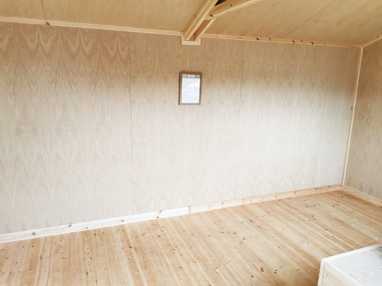 Interior of Tunbridge Wells' 3.0 x 4.8m Superior Shed in Sikkens Grey