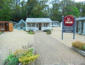 Welcome to Crane at Newbury, showcasing buildings including Garden Rooms, Garden Studios, Garden Sheds, Summerhouses and Greenhouses