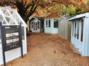 A selection of Summerhouses and a Classic Shed at Tunbridge Wells