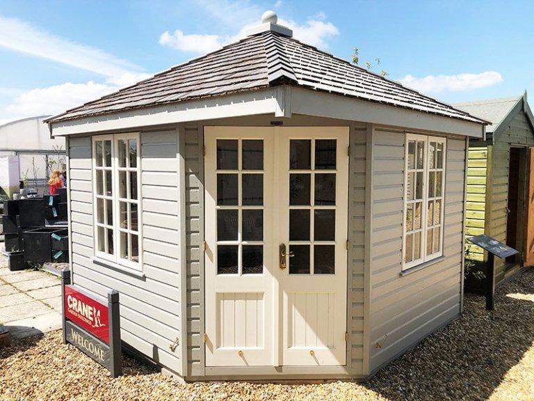 Brighton's 3.0 x 3.0m Weybourne Summerhouse in Exterior Pebble Paint
