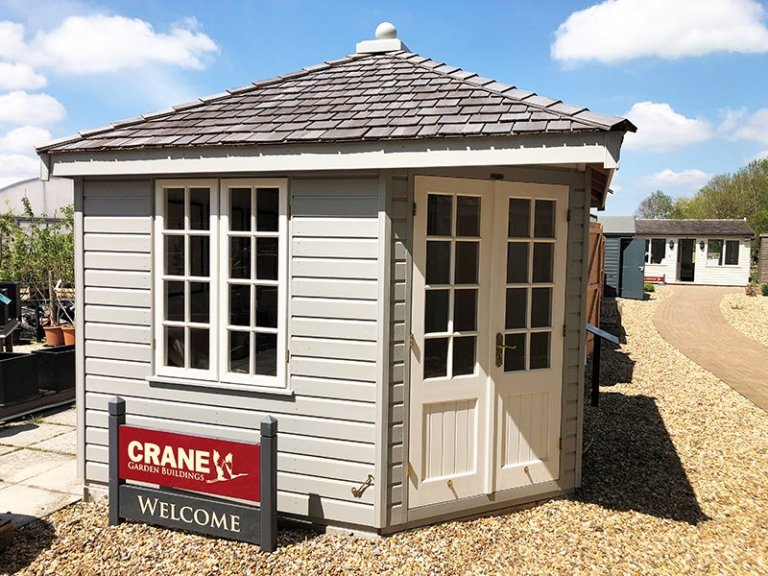 3.0 x 3.0m Weybourne Summerhouse at Brighton in Exterior Pebble Paint