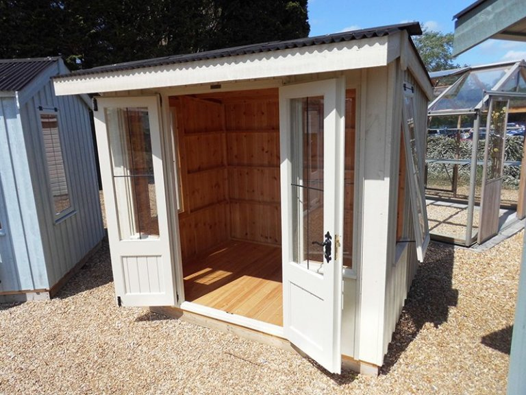 Burford's 1.8 x 2.4m Flatford National Trust Summerhouse painted in Dome Ochre
